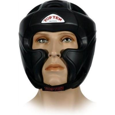 TOP TEN Kopfschutz mit Jochbeinschutz (schwarz)