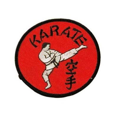 Stoffabzeichen Karate (rot)