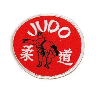 Stoffabzeichen – Judo rund mit Wurf (rot)