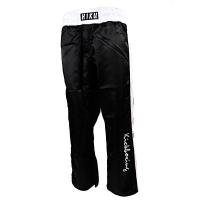 HIKU Kickboxing Hose (schwarz, Seitenband weiss)