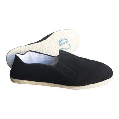 HIKU Tai Chi Schuhe (schwarz, Stoffsohle weiss)