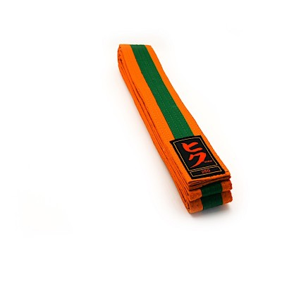 HIKU Budo-Gürtel (orange-grün)