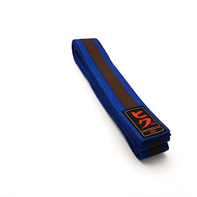 HIKU Budo-Gürtel (blau-braun)