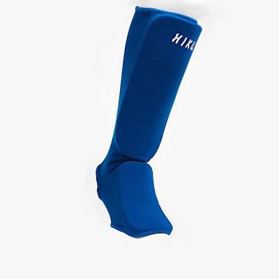 HIKU Schienbein/Fuss-Schützer Ju-Jitsu gepolstert (blau)