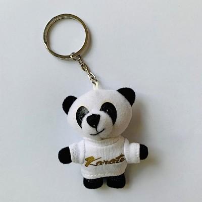 Schlüsselanhänger Tierli - Panda mit weissem Karate-Shirt