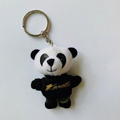 Schlüsselanhänger Tierli - Panda mit schwarzem Karate-Shirt
