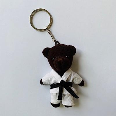 Schlüsselanhänger Tierli - Bär mit Karate-Anzug