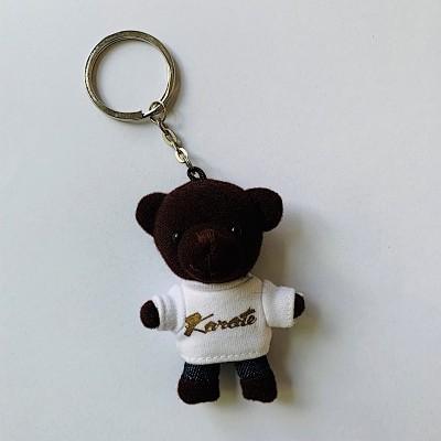 Schlüsselanhänger Tierli - Bär mit weissem Karate-Shirt