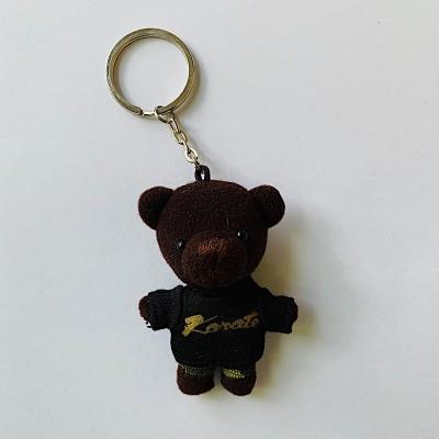 Schlüsselanhänger Tierli - Bär mit schwarzem Karate-Shirt