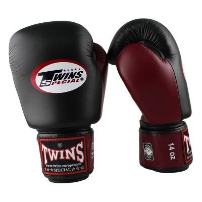 TWINS SPECIAL Boxhandschuhe BGVL 3 (schwarz/weinrot)