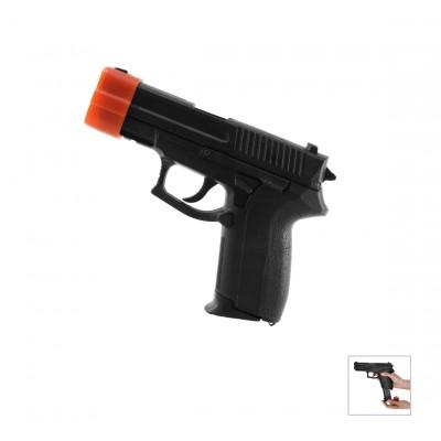 Replika Pistole Hartgummi (schwarz)