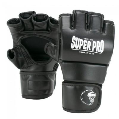 SUPER PRO - MMA Handschuhe Brawler (PU, schwarz)