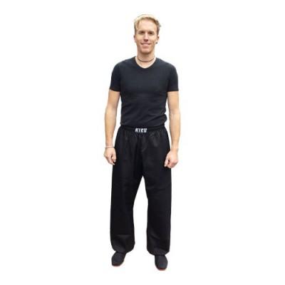 HIKU Budo-Training Hose (Polyester/Baumwolle, schwarz)
