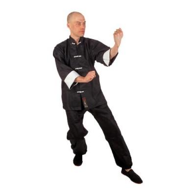 HIKU Kung-Fu Anzug (schwarz/weiss)