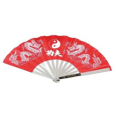 Kung-Fu Metall-Fächer (rot)