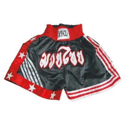 HIKU Thaibox-Shorts (schwarz/rot/weiss)
