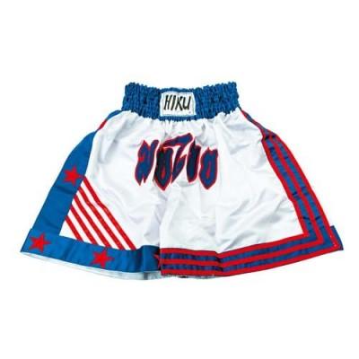 HIKU Thaibox-Shorts (weiss/blau/rot)