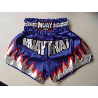 MUAY Thaibox-Shorts (blau/silber/rot)