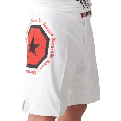 TOP TEN 'Morituri Te Salutant' MMA Shorts (weiss)